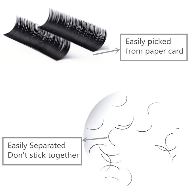 NEWCOME All Sizes Individual Eyelashes B C CC D Natural False Eyelashes Mink Classic Eyelash Lash Extension Cilia 0.03-0.25mm 4