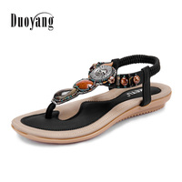 Women Summer Shoes Zapatos Mujer 2016 Hot Breathable Bohemia Sandals Women Sandals Fashion String Bead Women