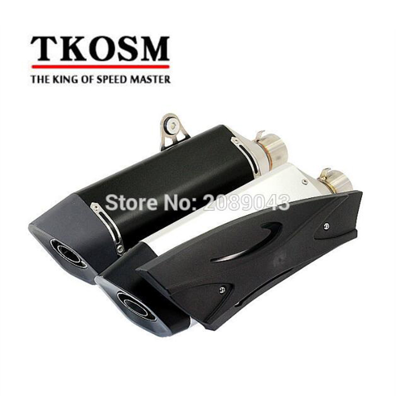 TKOSM Modified Motorcycle Exhaust Pipe with Large Displacement Wolf Muffler Aluminum Alloy Scorpio for Kawasaki for Dragon CBR motorcycle modified muffler for sc exhaust pipe laser standard carbon fiber exhaust 61 caliber exhaust large displacement