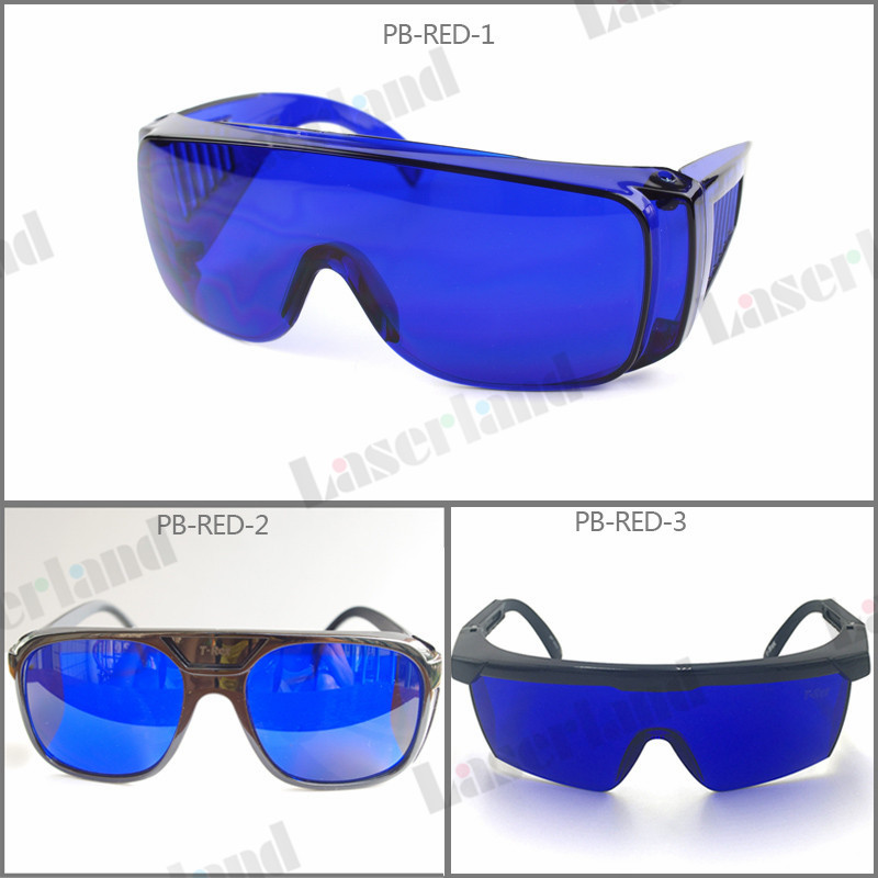 Laserland PB-RED Red 650nm 660nm Laser Protection Goggles Safety Eyewears Glasses Absorption high quality all round absorption blue laser protection safely security goggles glasses for 650nm red light laser pointer