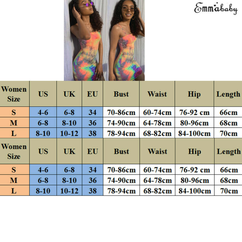2019 Brand New Women Female Sling Sleeveless Square Collar Dyeing Print Bodycon Short Mini Dress for Party Cocktail Club in Dresses from Women 39 s Clothing
