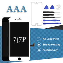 For iPhone 7 7 Plus LCD Screen With 3D Touch For iPhone 8 8 Plus LCD Display No Dead Pixel Black White Phone Replacement Panel nl8060bc21 06 8 4 lcd panel brand