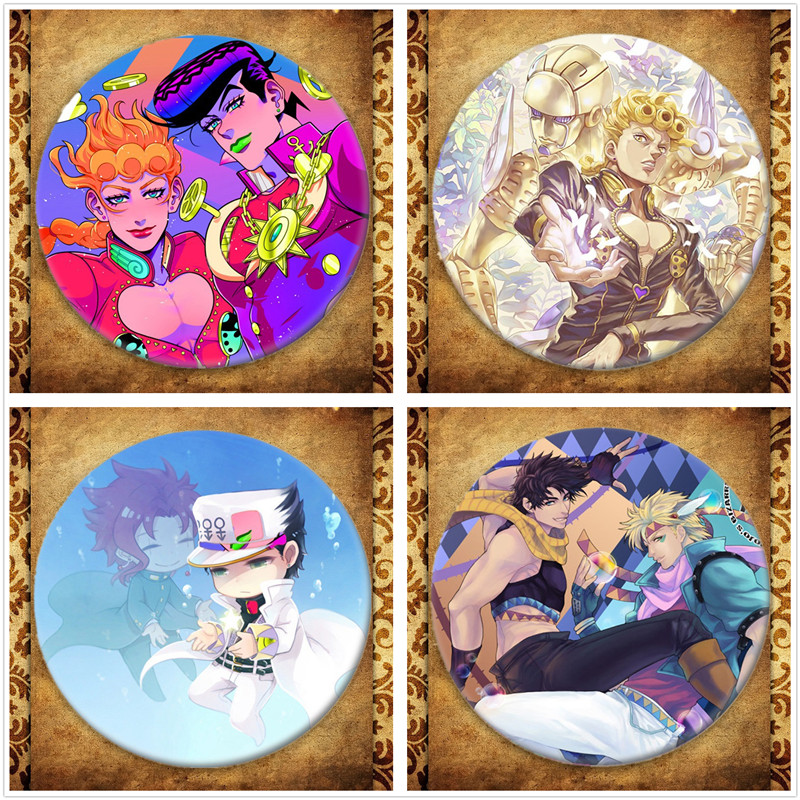 Japanese Anime Jojos Bizarre Adventure Display Badge Fashion Cartoon Figure Brooches Pin Jewelry Accessories