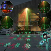 ESHINY Outdoor Waterproof R G Laser 12 Halloween Patterns Projector Shop House Party Tree DJ Wall