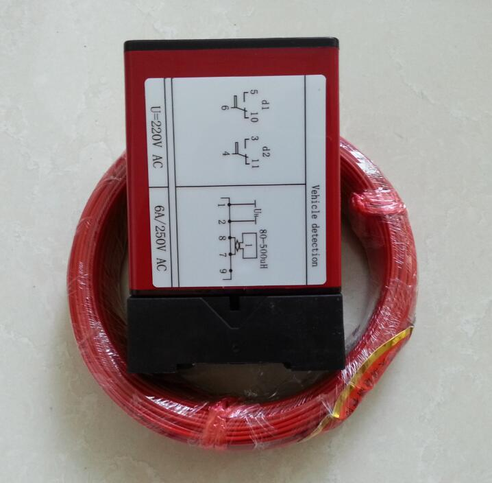 ФОТО 220V 110V Detector de Masa Metalica/ inductive loop detectors for car parking system toll gate with 50m loop cable