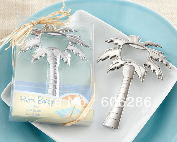 wedding table gifts Palm Breeze Chrome Palm Tree Bottle Opener party giveaways Souvenirs