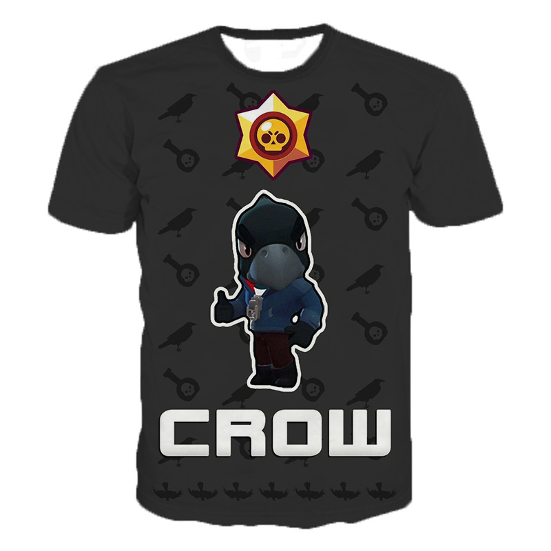 2019 Summer New Shooting Game   T     Shirt   Men Women 3D Print Brawl Stars   T  -  shirt   Cartoon Fashion Streetwear Tops Plus Size 2XS-5XL