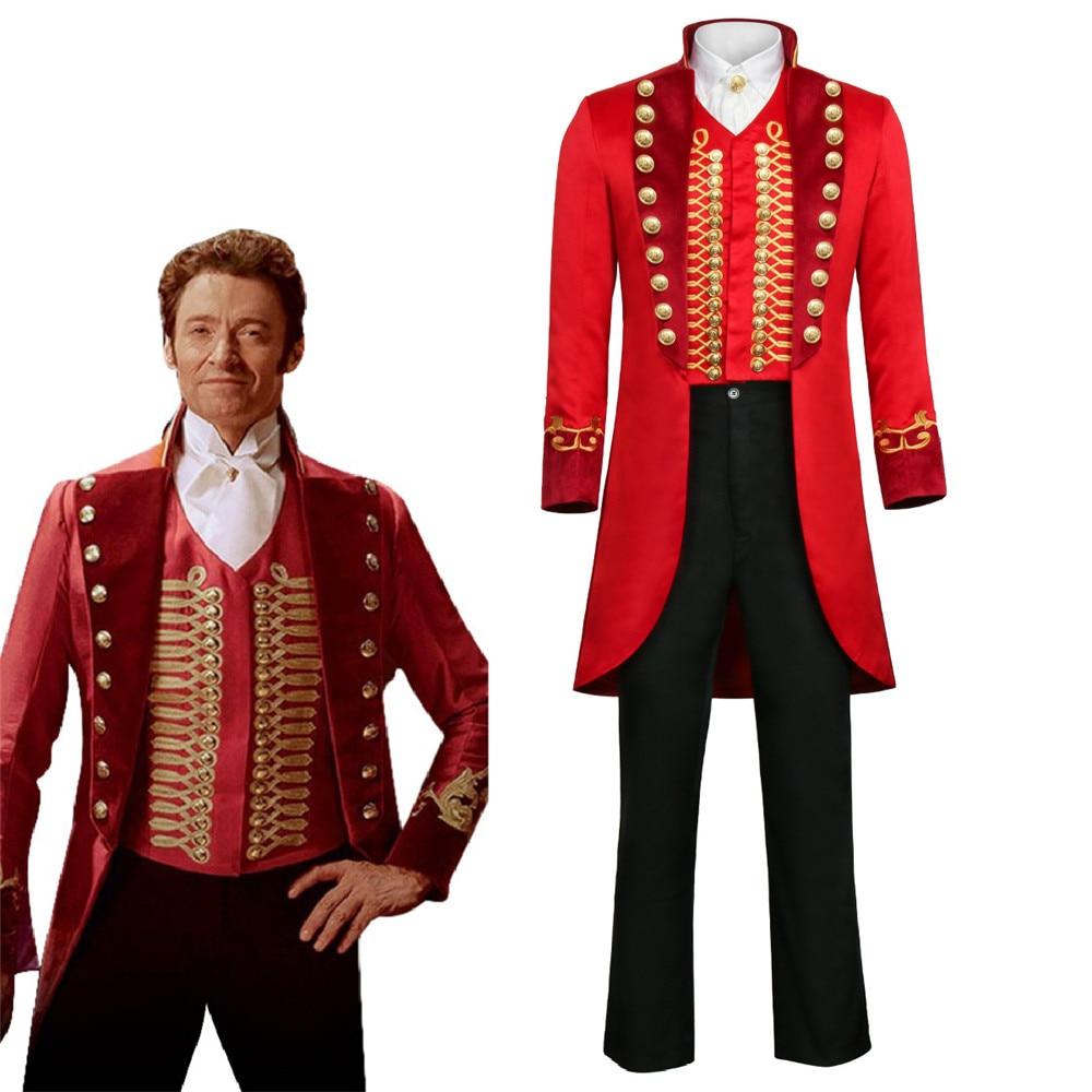 2018 film chaud le plus grand Showman P.T. Costume de Cosplay Barnum tenue adulte hommes ensemble complet uniforme Halloween carnaval Cosplay