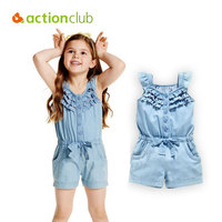 Actionclub Children Summer Clothes Girls Clothing Set Sleeveless Shirt Girls Baby Girl Pants Fashion Coverall Suit