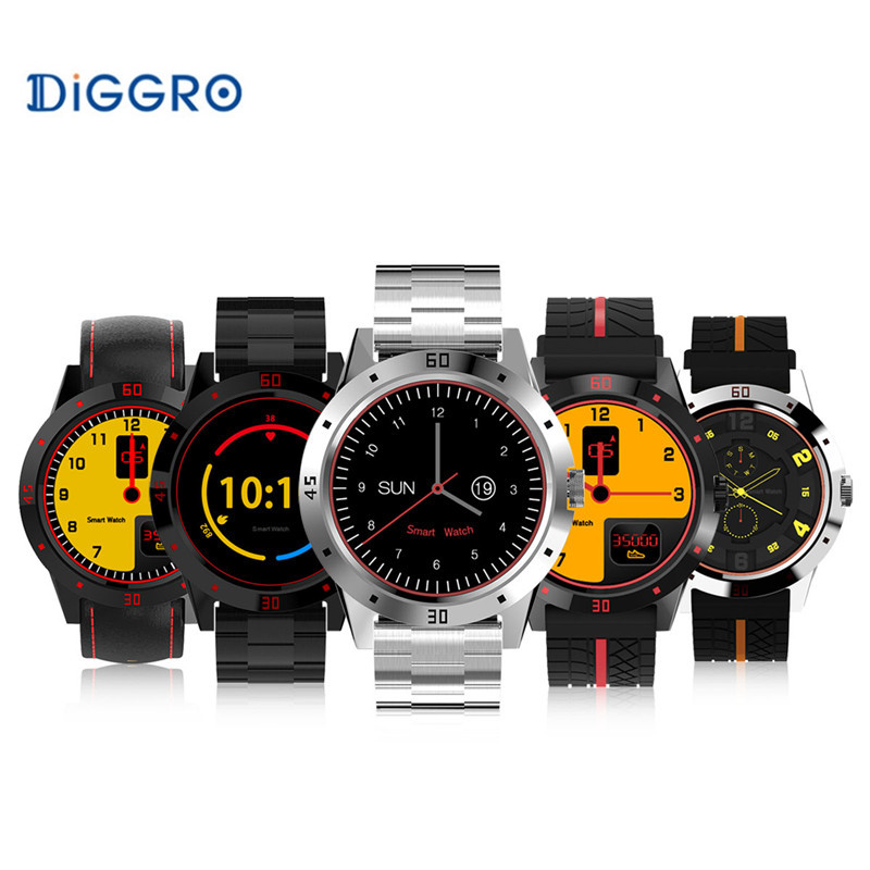 Bluetooth Siri Diggro DI02 MTK2502C 128MB+64MB Smart watch Heart Rate Pedometer Sleep Monitor Sedentary Android & IOS Reminder diggro di03 plus bluetooth smart watch waterproof heart rate monitor pedometer sleep monitor for android & ios pk di02