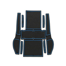 Dongzhen 9pcs Car Interior Accessories Anti-slip Mat Silicone Pad Door Groove Mat For Toyota Corolla EX 2013 Auto Car Styling