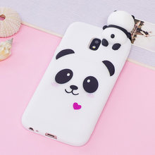 SFor Coque Samsung Galaxy J3 2017 Cover voor Samsung J330 Case 3D Cartoon Panda Eenhoorn voor Samsung Galaxy J3 2017 J3 Pro Case(China)