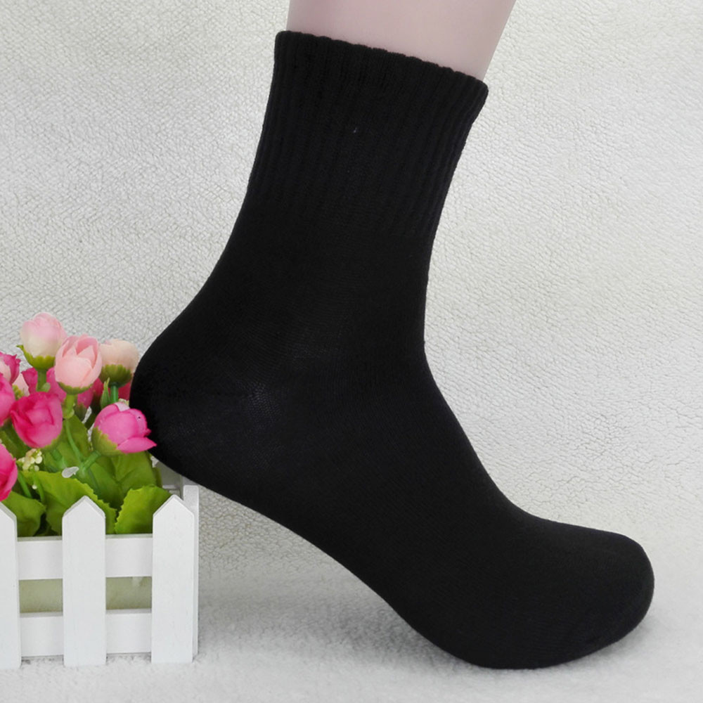 Men's Socks Cotton Socks High Quality Mens Business Cotton Sock Casual Gray Black White Socks T722
