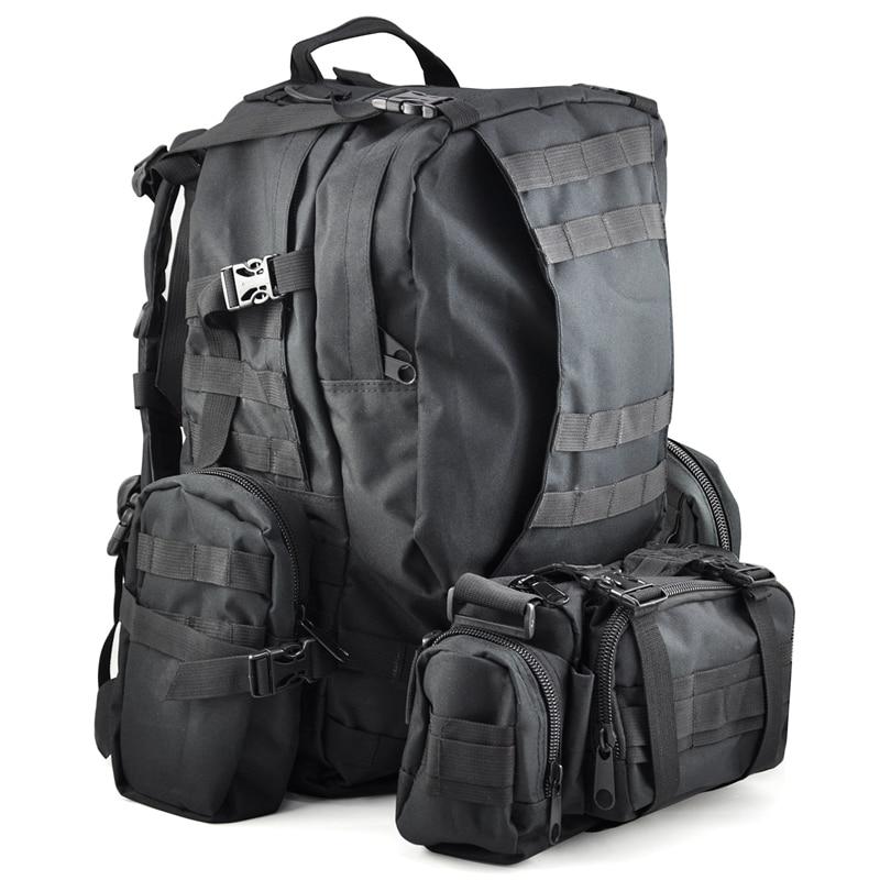 ФОТО LGFM-50 L 3 Day Outdoor Military Rucksacks Backpack Camping bag - Black
