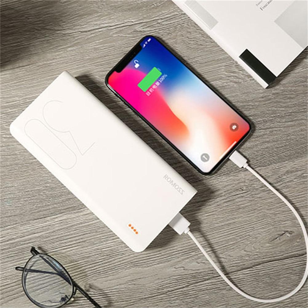 ROMOSS 30000 mAh batterie externe Pack rapide chargeur batterie externe pour téléphones mobiles tablette PCs Powerbank pour iphone 8 Plus pour Xiaomi