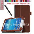 Ultra couro fino Folio magro PU Stand Case capa do livro para Samsung Galaxy Tab 3 Lite 7.0 Tablet SM-T110 / SM-T111 ( Brown )