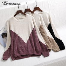 Hirsionsan Winter Chenille Sweater Women 2018 Casual Colors Patchwork Women Sweaters and Pullovers Soft Warm Jumper Sueter Mujer