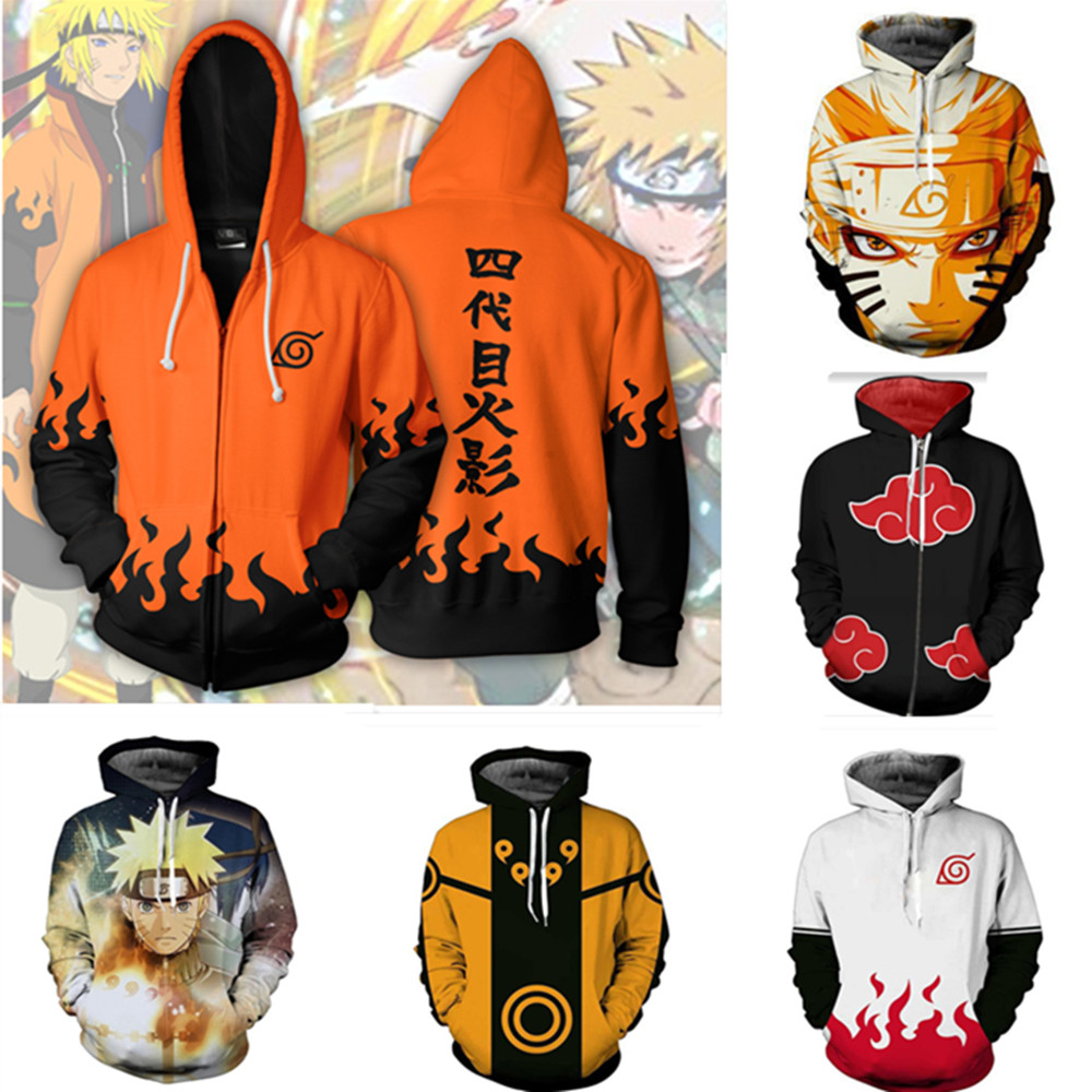 Naruto Shippuden Characters Adult Hoodie