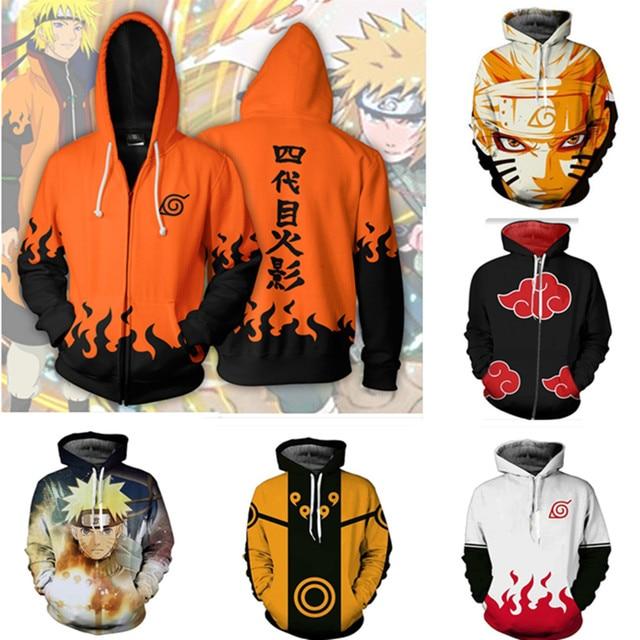 Naruto 3D Printed Hoodie