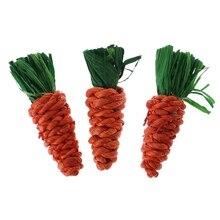 3 шт./компл. игрушки для чистки зубов моркови, кролика, хомяка, жевания, морская свинка