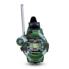 LCD Radio 150M Watches Walkie Talkie 7 in 1 Children Watch Radio Outdoor Interphone Toy