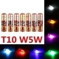 1 Unids Gel de Sílice 194 168 3014 24 SMD T10 W5W LED Lado Flash estroboscópico Intermitente Bombilla Blanco Amarillo Rojo Verde Azul Hielo Azul rosa