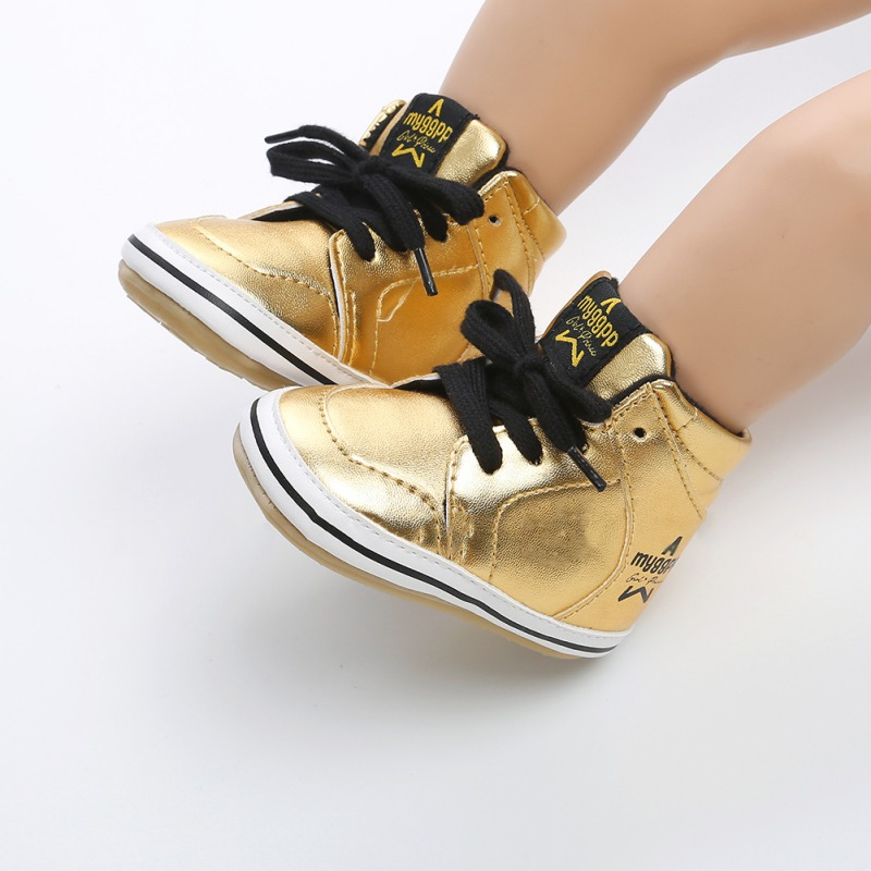 2018 Newborn Kids Sneakers Baby Boys Shoes High Top Solid