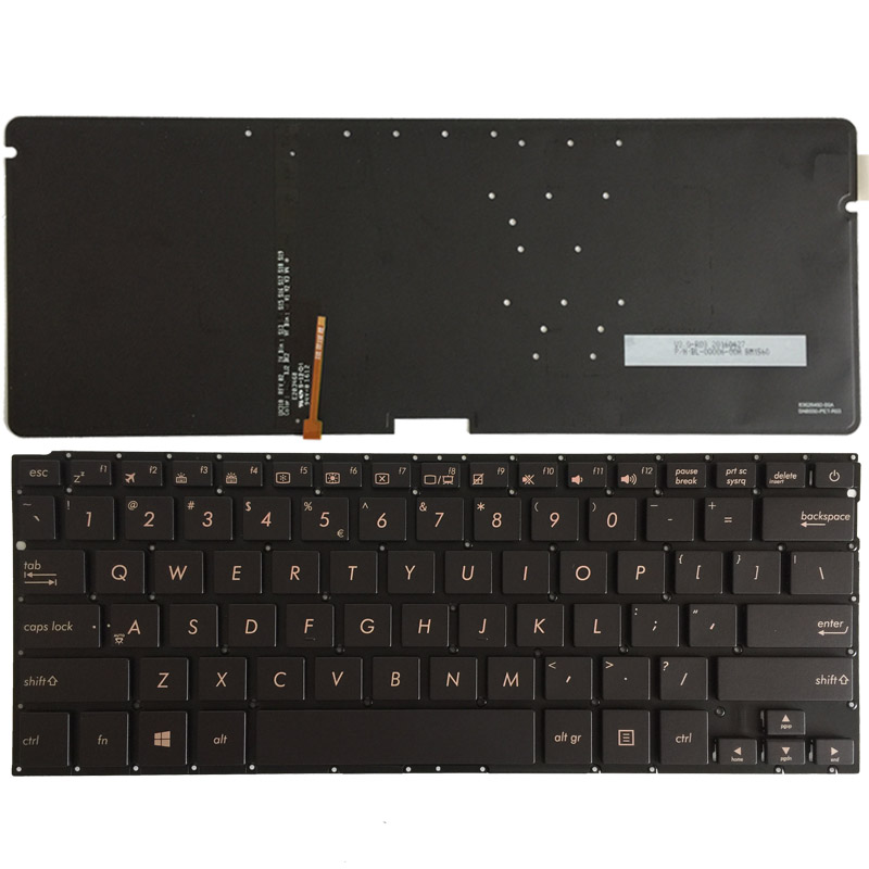 US Laptop Keyboard for ASUS UX310 English with backlit keyboard 0KN0 UM2UI16 SG 64071 XUA