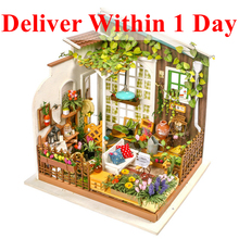 hot deal buy robud children adult diy miniature miller's garden doll house model building dollhouse learning education toys hobbies dg108