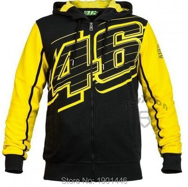 Free Shipping hot sales <font><b>Valentino</b></font> <font><b>Rossi</b></font> VR46 Hoodies MotoGP riders Team <font><b>cotton</b></font> Jackets knight casual riding culture coat jacket