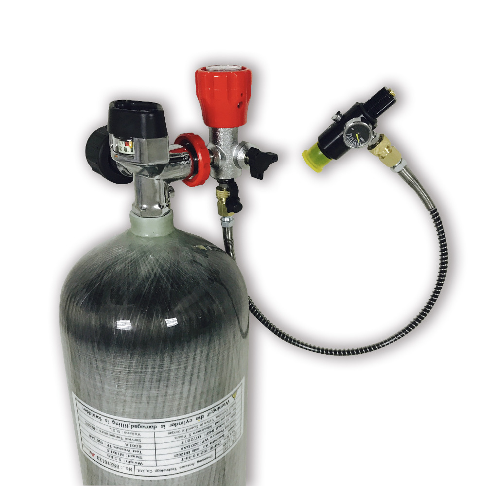 AC109201 High Performance 9L 300bar 4500psi Gas Cylinder Scuba Diving  For PCP Airrifle Paintball Tank Drop Shipping Acecare