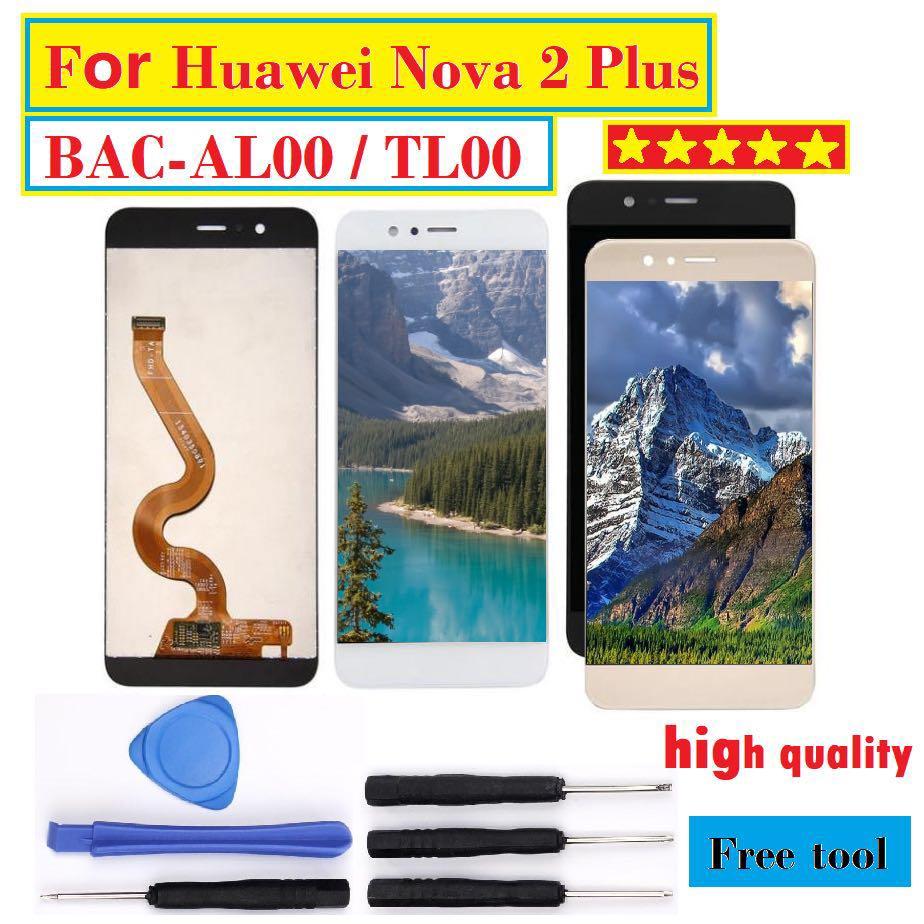Pour Huawei Nova 2 Plus LCD Affichage à L'écran Tactile Digitizer Assemblée BAC-AL00 BAC-TL00 Remplacement Pour 5.5 Huawei Nova 2 plus LCD