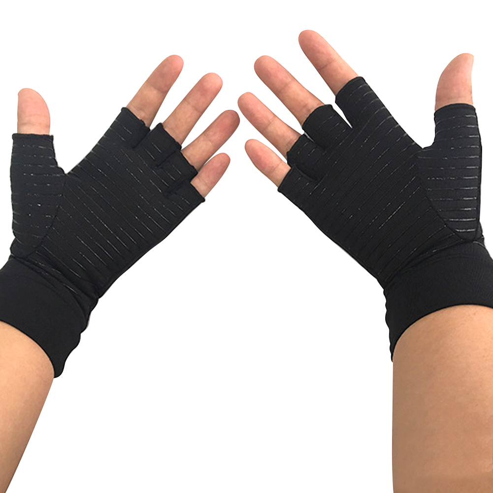 Unisex Wear Durable Gloves Outdoor Skid Resistance Sports Silicone Protection Half Finger Reinforced