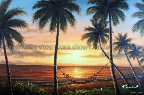 Aliexpress.com : Buy 100% Hand Painted Hawaii Sunset Beach