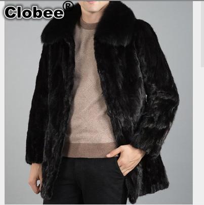2017 Plus Size XXXL Design Casual Luxury Men's Faux Fur Coat New Winter Thick Warm Masculina Mink Rabbit Fur Coat Outwear V541
