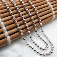 Pure 925 Sterling Silver Smooth Beads Necklace chain