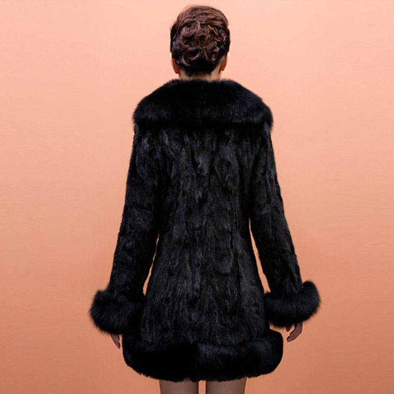 Col Femmes Moyen De Fourrure 2016 Imitation Renard En Fausse Vison W855 Des Manteaux Femme Faux Mode La Survêtement Hiver Long Vestes nnvOIq7F