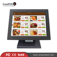 Best POS System Bar Point of Sale Cash Registers 15 inch TFT LED Screen Touch Monitor Epos All In One Desktop Pos Equipment