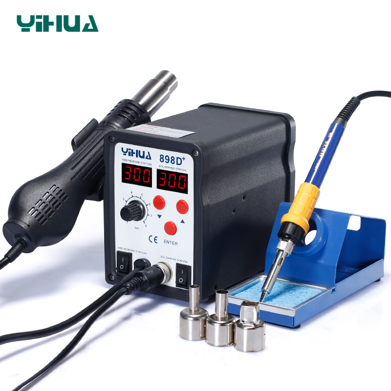 цена на Cell Repair Tool Large Power Soldering Iron Station YIHUA898D+ Soldering Station Hot Air 720W For Motherboard Welder