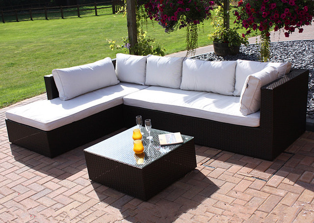 Rieten Balkon Meubels : Outdoor rieten meubels modulaire lounge zitplaatsen balkon hoekbank