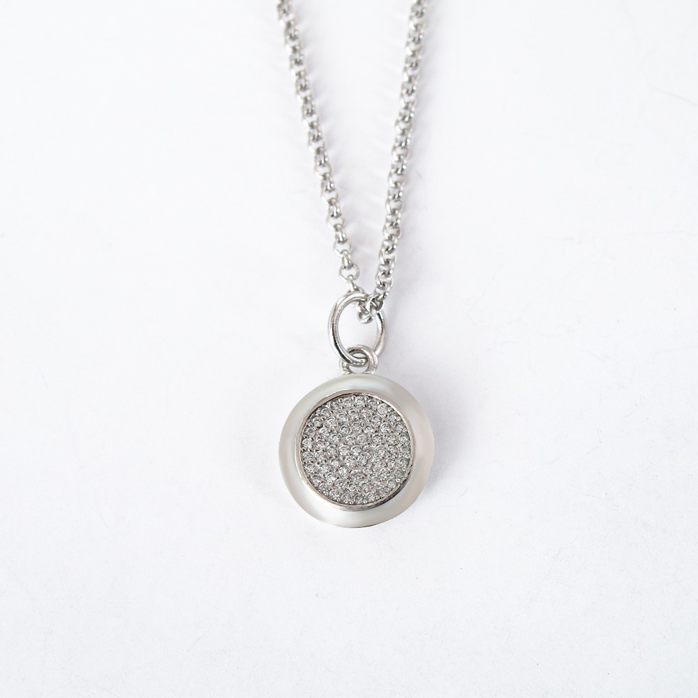Authentic sterling silver jewelry necklace S925 fine jewelry Signature pendant with European Chain With women European necklace