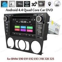 Android4.4 DVD-ПЛЕЕР Автомобиля Quad Core FM AM радио Для B/МВТ/E90/E91/E92/E93/318/320/325 Поддержка BT 3 Г Wi-Fi Зеркало Ссылка DAB TPMS GPS DVR