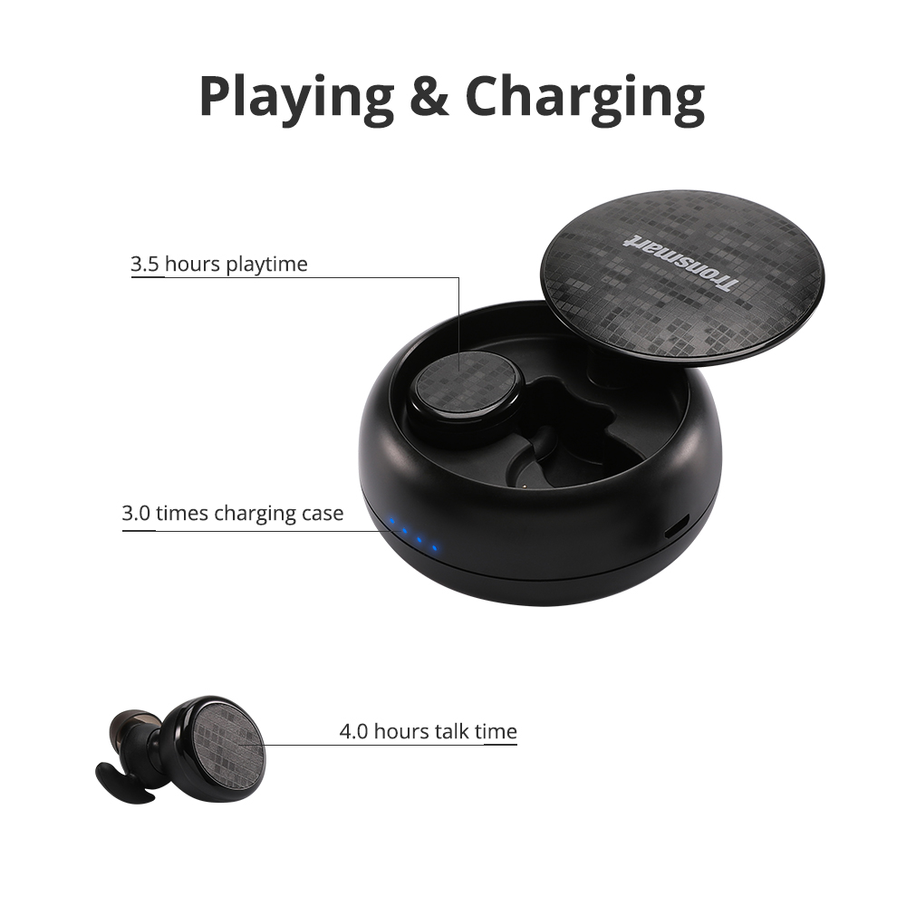 Tronsmart Spunky Buds Wireless Headphones Bluetooth 5.0 True Wireless Stereo Earbuds IPX5 Headphones with Mic for Phones 14