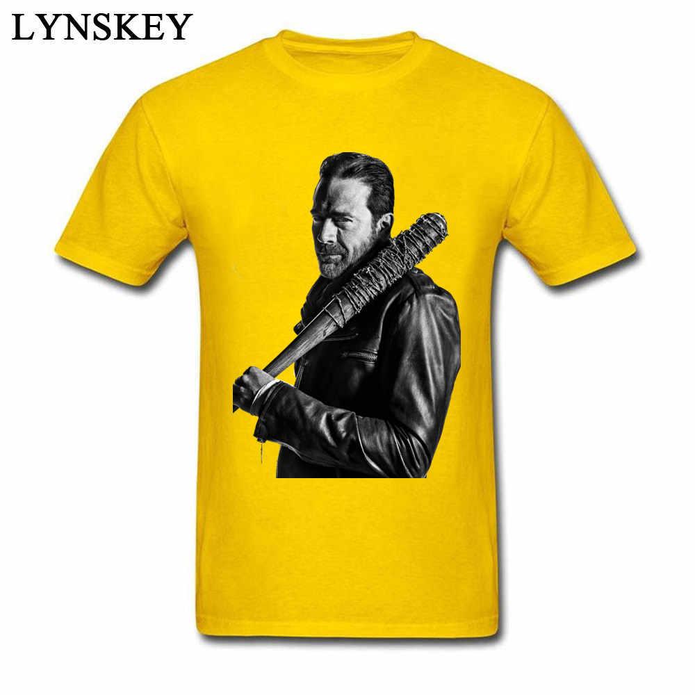 Camisetas de manga corta de algodón 2018 USA 100% The Walking Dead Negan, camisetas geniales con cuello redondo para hombres, camiseta de Liverpool ster