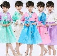 Child Asian Clothing Hanbok Dress Korean Princess National Costumes Girls Elegant Hanbok Ancient Dance Stage Performance