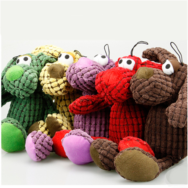 Small Plush Pet Dog Teeth Training Toys Pelucia Interaction Criceto Play Games Jouets Po ...