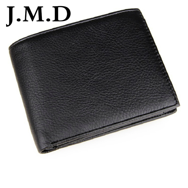 J.M.D 2017 New High Quality 100% Real Cow Leather Wallet For Men Minimalist Credit Card Holder 8084