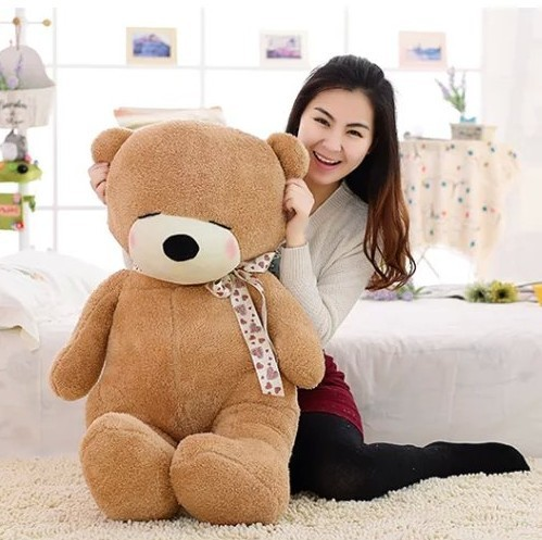 Giant Large Big Size Sleepy Teddy Bear Stuffed Plush Teddy Bear Soft Doll  100CM High QualityTeddy Bear Plush Toy New fancytrader new style giant plush stuffed kids toys lovely rubber duck 39 100cm yellow rubber duck free shipping ft90122