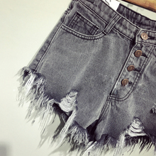 Casual summer hot sale denim women shorts high waists fur-lined leg-openings Plus size sexy short Jeans TJ1115