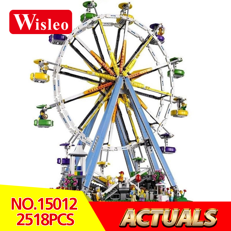 Wisleo 15012 city expert wheel model kits Building Block Bricks compatible toys LegoINGlys 10247 Educational for children gift lepin 15012 2478pcs city series expert ferris wheel model building kits blocks bricks lepins toy gift clone 10247